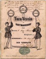 Erstes Mitgliedsbuch des Vereins